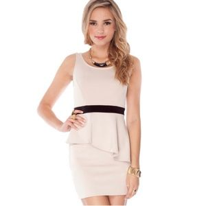 TOBI | Peplum Mini Dress